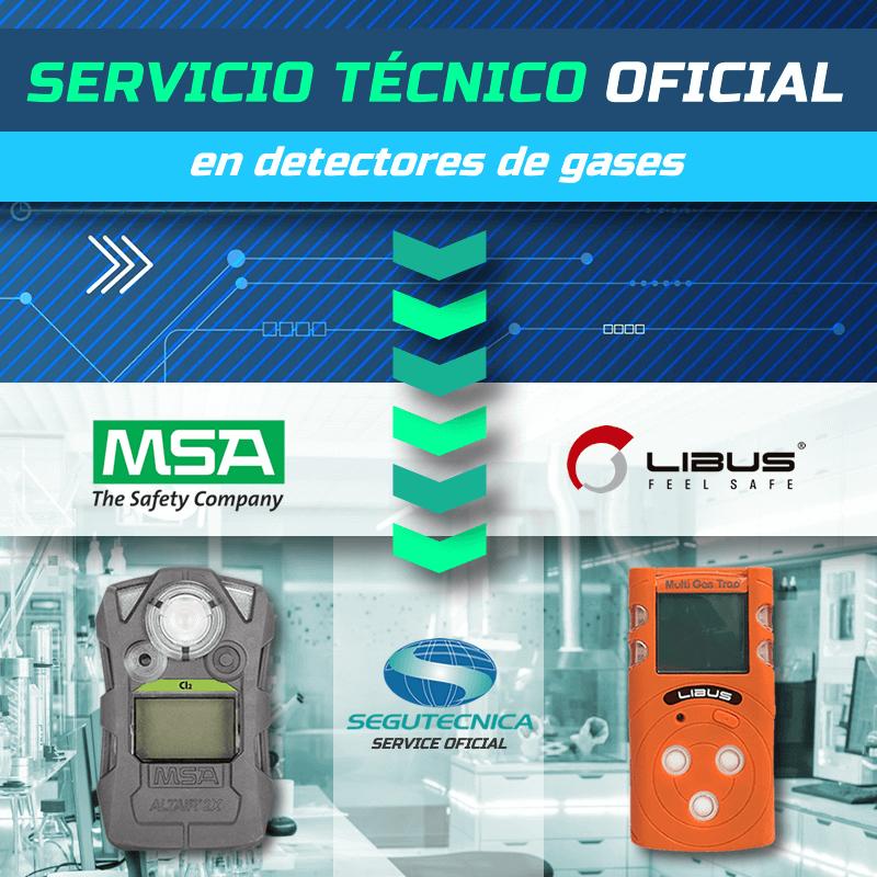 Servicio técnico oficial en detectores de gases MSA y LIBUS