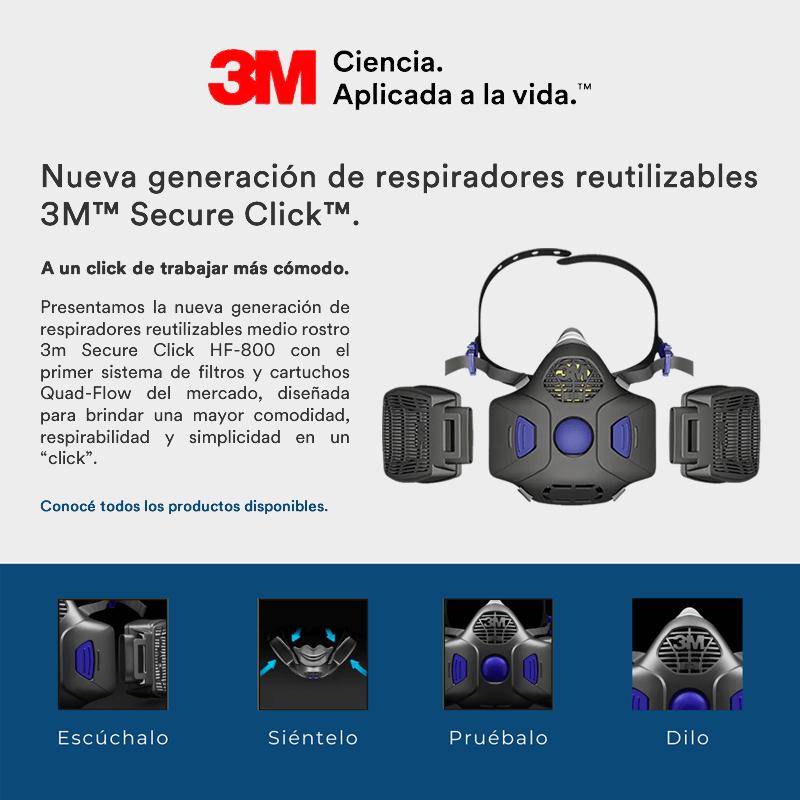 Llegó Secure Click la nueva generación en respiradores reutilizables