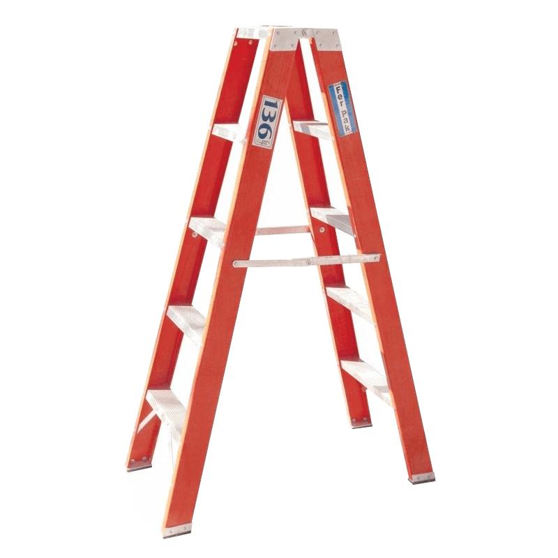 Escalera diel ctrica tijera doble 7 escalones reforzada for Escaleras 10 peldanos de tijera