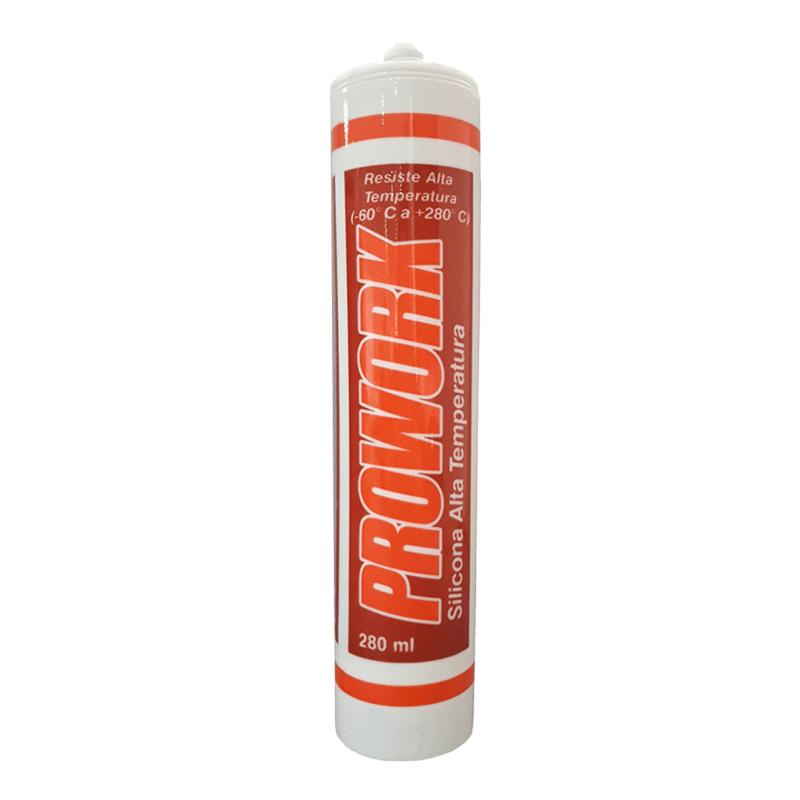 Prowork cartucho silicona alta temperatura prowork - Silicona altas temperaturas ...