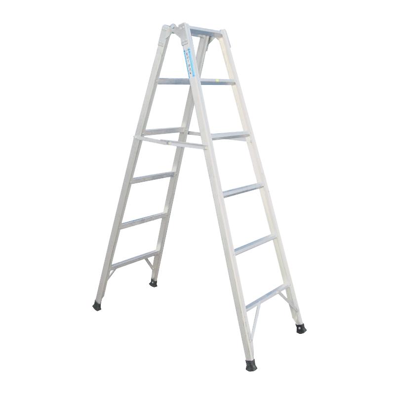 Escalera de aluminio tijera o simple 7 o 14 escalones for Escaleras 7 escalones