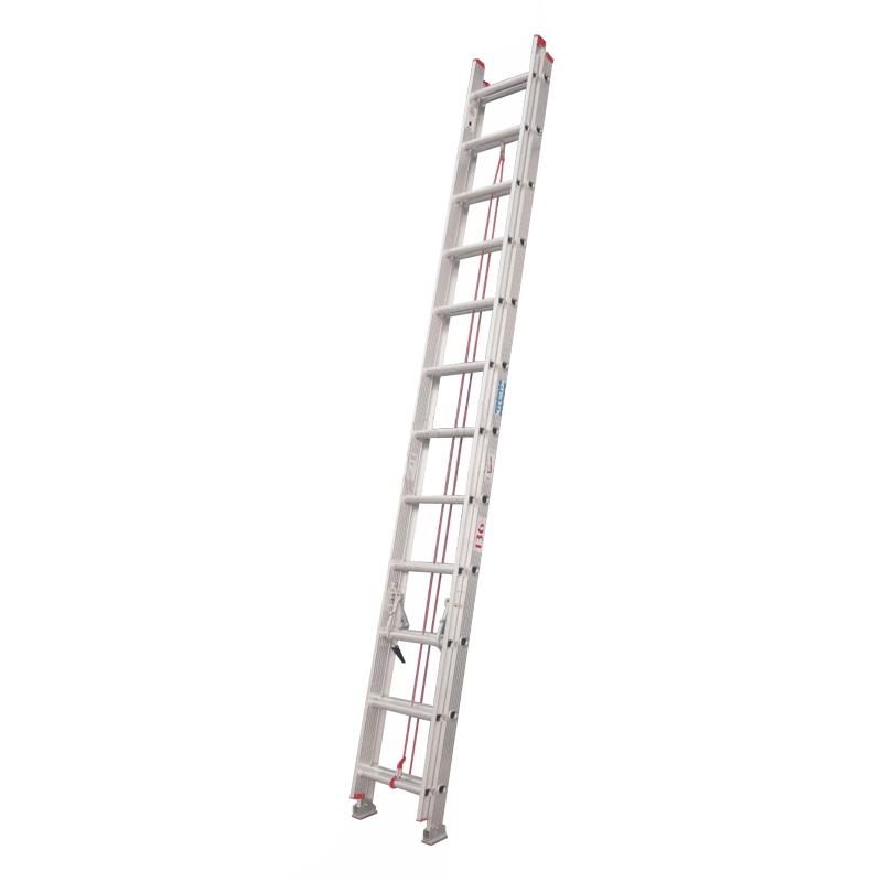 escalera de aluminio extensible 20 escalones reforzada