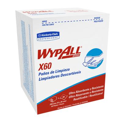 WYPALL X60 PAÑOS DE LIMPIEZA PRE DOBLADOS (30227886)