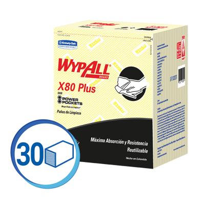 WAYPALL X80 PAÑOS DE LIMPIEZA PRE DOBLADOS AMARILLO (30228270)