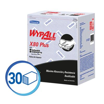 WAYPALL X80 PAÑOS DE LIMPIEZA PRE DOBLADOS AZUL (30228273)