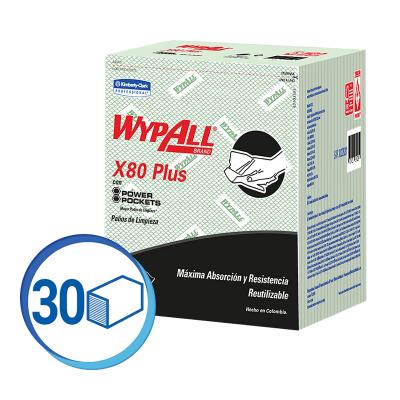 WAYPALL X80 PAÑOS DE LIMPIEZA PRE DOBLADOS VERDE (30228281)