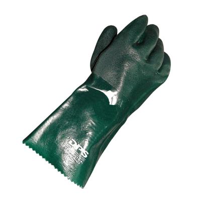 DPS GUANTES PVC VERDE GRANULADO 35 cms (35485)