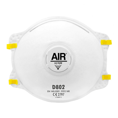 AIR RESPIRADOR DESCARTABLE D802 FFP2 NR CON VÁLVULA