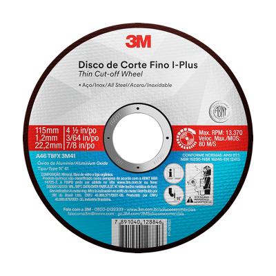 3M DISCO DE CORTE FINO I-PLUS THIN CUT 115X1.0X22.2MM (65560)